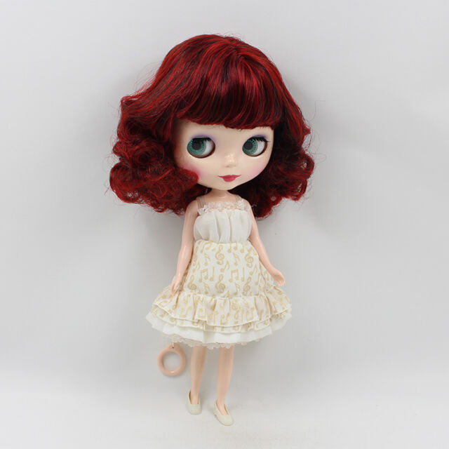 """Takara 12"""" Neo Blythe Nude Doll From Factory wine red hair free shipping new HOT"""