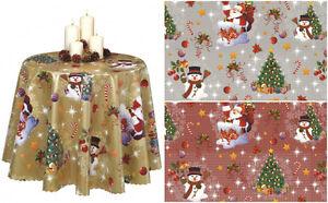 Detalles de Navidad Estampado Limpieza Fácil PVC Mantel de Vinilo Comedor  Mesa Cocina Hule