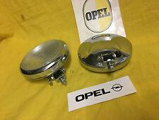 NEU Satz Chrom Fernscheinwerfer Opel Kapitän Olympia Rekord P1 P2 Rekord Kadett