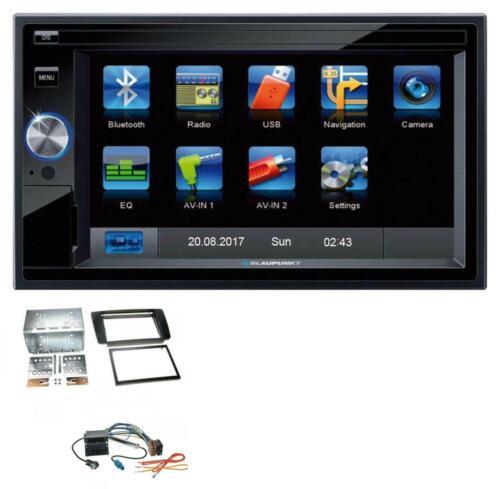 Blaupunkt SD Bluetooth 2din mp3 USB aux radio del coche para Skoda Octavia 04-13 Scout