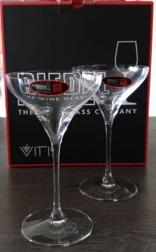 Riedel Cristal Fino Vitis Vasos de Martini par nuevo