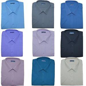 Shirt Top 3XL 6XL by Tom Hagan Mens Short Sleeve King Size Plain Crew Neck T
