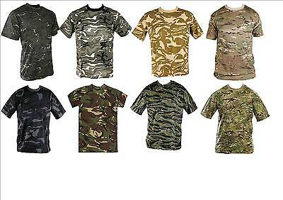 MENS NIGHT CAMO 100/% COTTON T SHIRT MILITARY COMBAT ARMY  SMALL TO 3XL