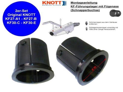 Original Knott Buchsen Führungslager Reparaturset für KF 27-30 50mm Schnapper