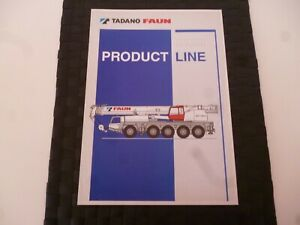 TADANO FAUN PRODUCT LINE MOBILE CRANES RARE BROCHURE/LEAFLET *AS PICTURES*