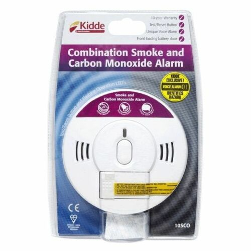 New Kidde Combination Fire Smoke And Carbon Monoxide Voice Alarm Detector 10SCO