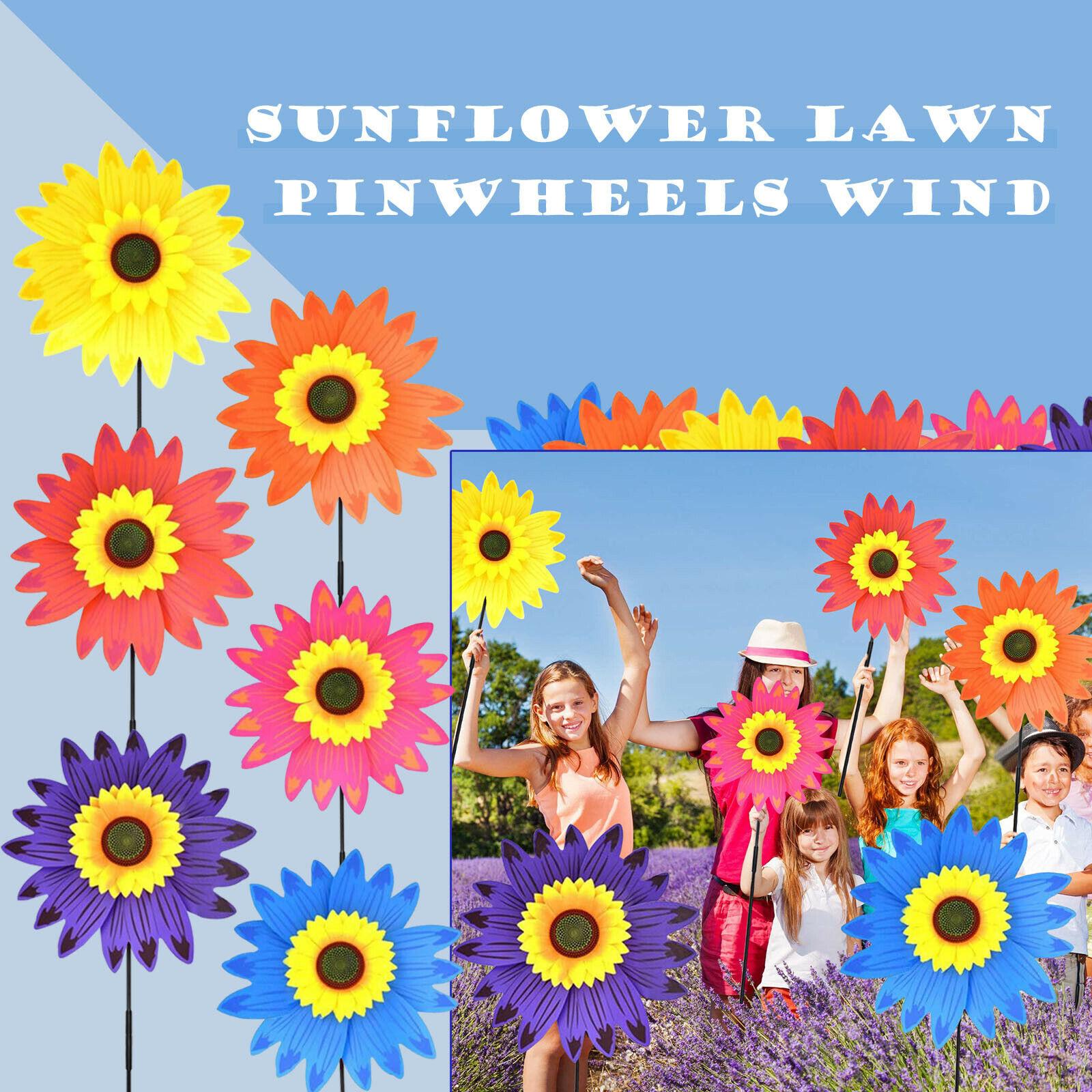 Sunflower Lawn Wind Garden Party Wind Garden Lawn Windmill Decoration Outdoor De