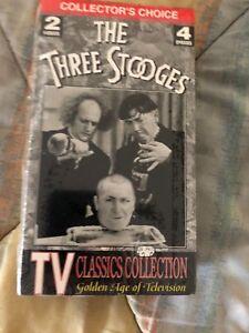Los-Tres-Chiflados-Dos-Cinta-VHS-Video-Pelicula-Television-Clasicos-4-Episodios