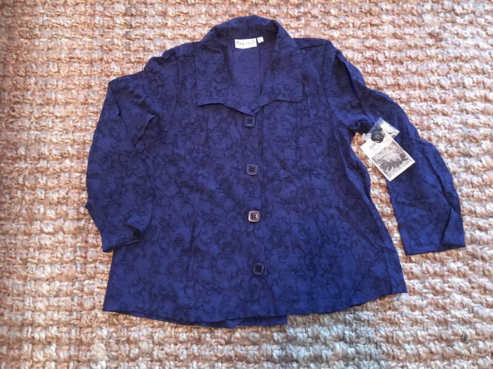 Habitat Embroiderot Midnight Jacket SHIRT.Größe XS.NWT .
