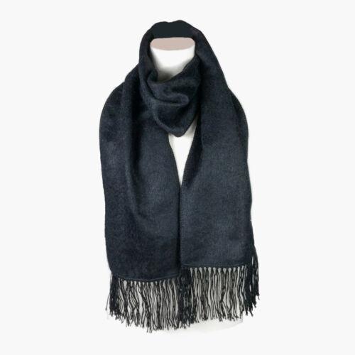 Fashionable Black Alpaca Wool Blend Unisex Scarf by INKITA Winter. Chic Style