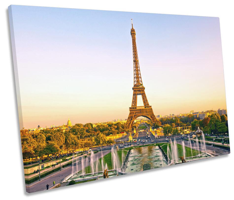Eiffel Eiffel Eiffel Tower Paris Landmark SINGLE CANVAS WALL ART Framed Print 496d93