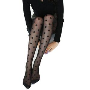 5d5934c61 Women s lolita Sexy Retro Sheer Lace hosiery Big Dot Pantyhose ...