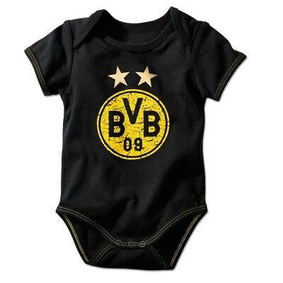 Bvb - Babybody Schwarz M. Logo Gelb Gr. 50/56- 86/92 Borussia Dortmund Durchsichtig In Sicht