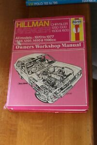 Hillman-Avenger-1970-1977-Haynes-Manual-037-Chrysler-1250-1300-1500-1600