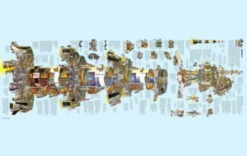 Saturn 5 Big Diagram 20X36 Art Poster 24inx36in