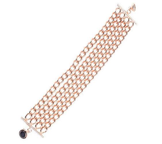 Bronzo Italia 8  Multi-strand Curb Link Bracelet  139 QVC Sold Out