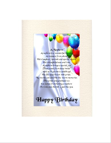 Personalised Birthday Card-Âges Divers-UN NEVEU poème
