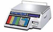 Cas Cl5500b 60w Dual Capacity Label Printing Scale With Wireless Card New