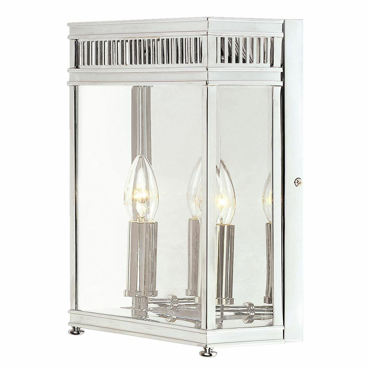 Elstead Lighting - Holborn 2 Light Half Lantern Medium - Polished Chrome