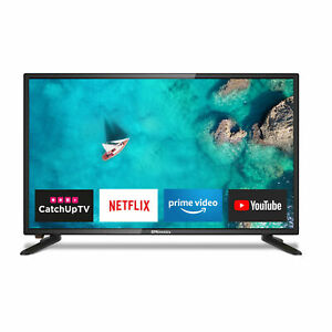 """EMtronics 24"""" Inch 12 Volt 720p LED Smart 12v TV with Freeview HD and HDMI, USB"""