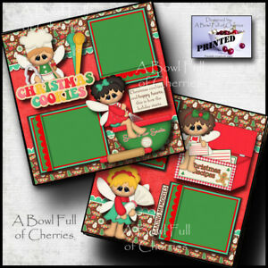 Details About Christmas Cookies Baking 2 Premade Scrapbook Pages Paper Printed By Cherry