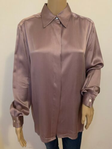 Vintage D. J. INTERNATIONAL lavender silk long sle