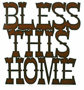About Bless This Home Rustic Kitchen Wall Decor Rustic Metal Sign