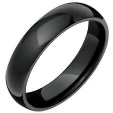 Black Plated Fashion TUNGSTEN CARBIDE RING BAND, size 11 - NEW - in Gift Box!