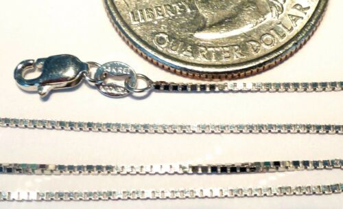 14kt Pure Solid White Gold 20 inch .8MM BOX Chain with Lobster Lock..Guaranteed!