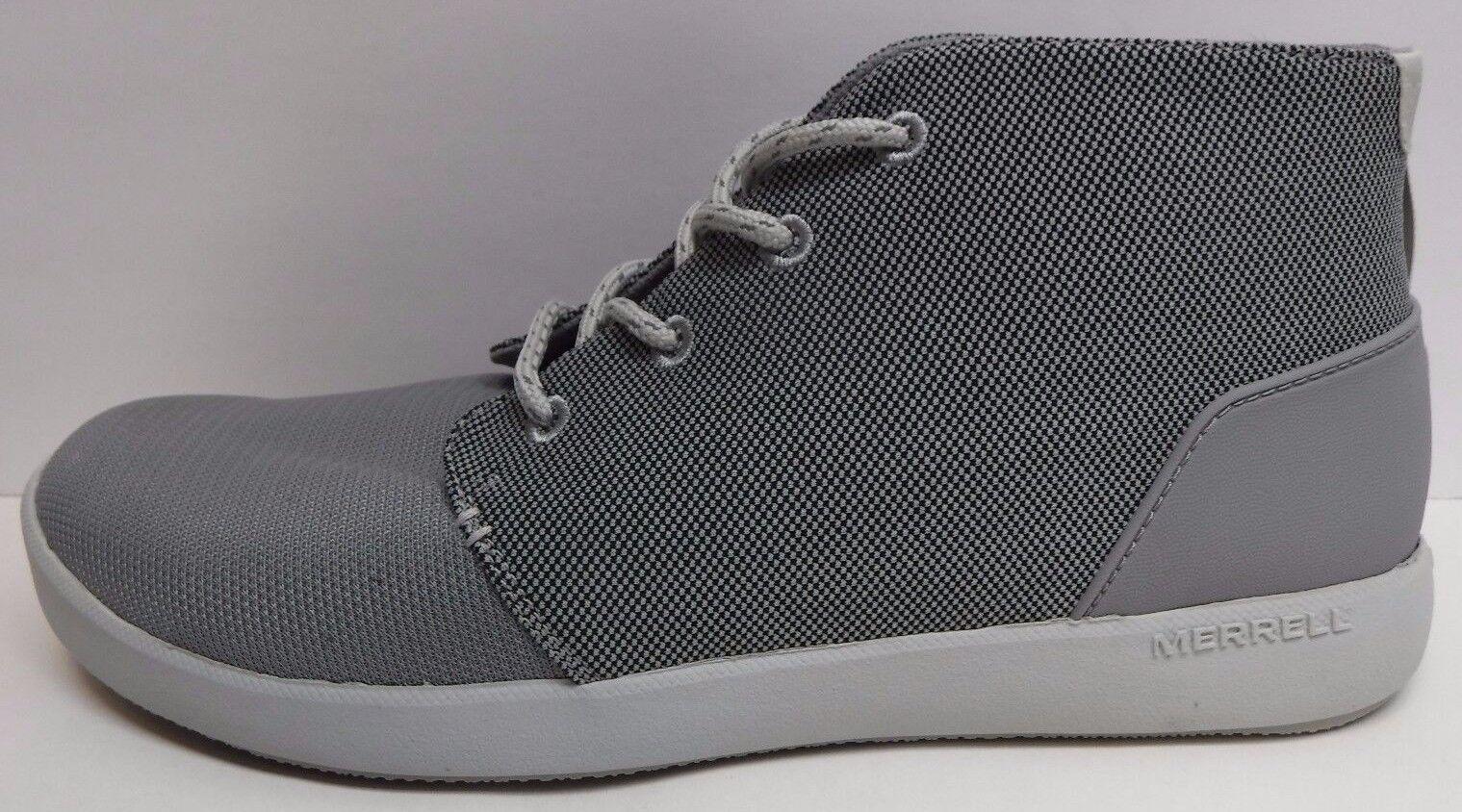 Merrell Size 9.5 Grigio Chukka Boots Scarpe da Ginnastica New Uomo Shoes