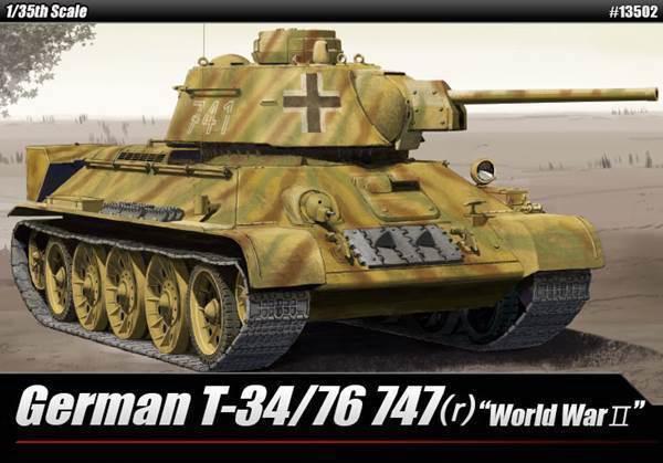 ACADEMY 1 35 tedesco T-34 76 (747r)