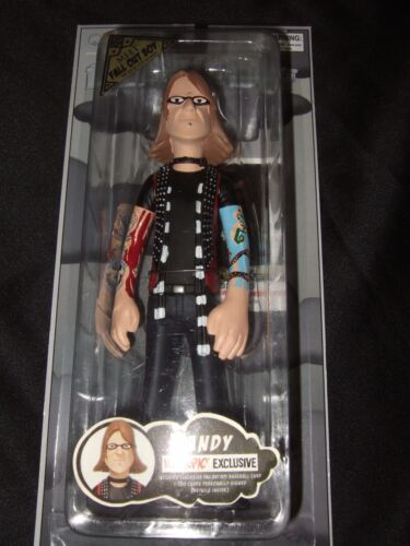 New Rare 2006 Fall Out Boy 7 Andy Hurley Band Figure Doll Exclusive & Card FOB