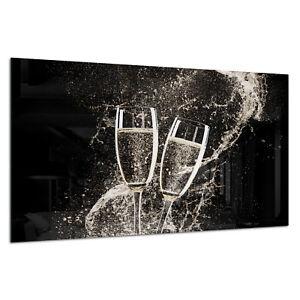 Tempered-Glass-Photo-Print-Wall-Art-Picture-Wine-Champagne-Splash-Prizma-GWA0336