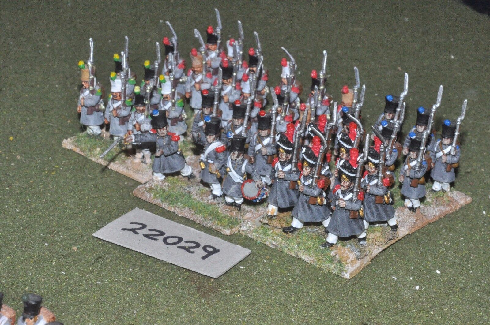 25mm napoleonic   french - line 36 figs infantry - inf (22029)