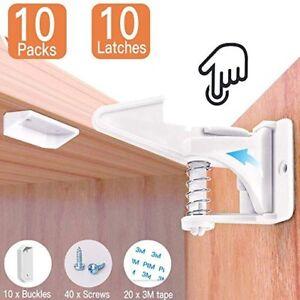 baby safety cabinet locks child proof safe lock no tools or drilling rh ebay com