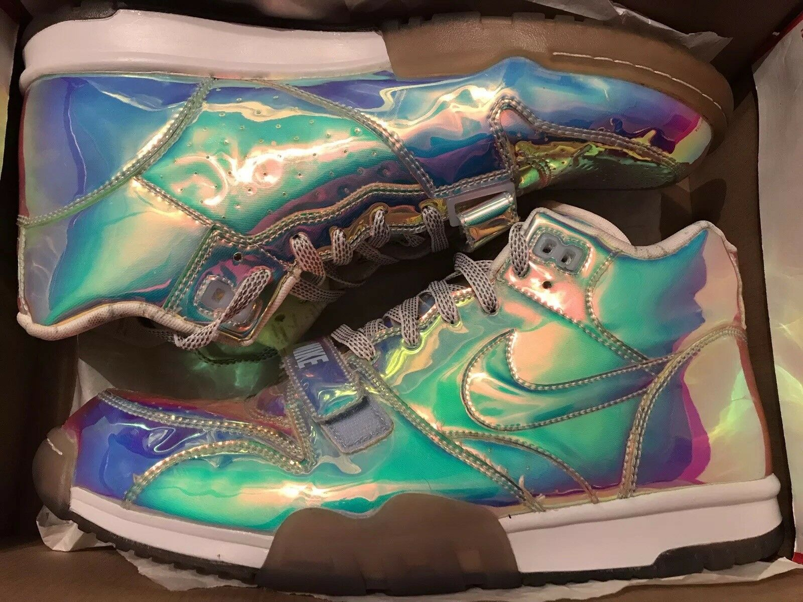 Nike Air Trainer One Mid PRM Mid QS Chrome Super Bowl Size 13 Rare DS Used Once