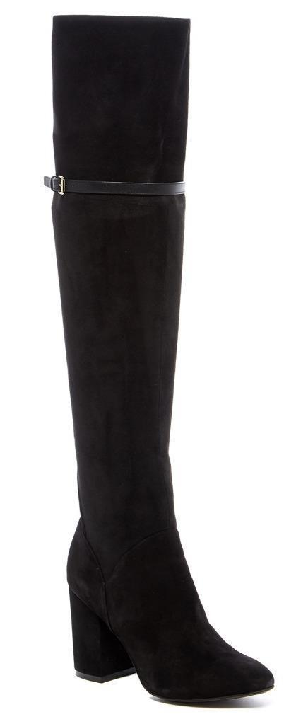 Nuevo Nuevo Nuevo En Caja -  350 Cole Haan Darcia sobre la rodilla botas De Gamuza Negra Talla 7  connotación de lujo discreta