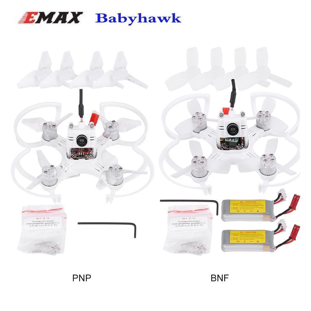 EMAX babyhawk 87mm marco sin escobillas FPV RACING Drone BNF PNP receptor Frsky XM +