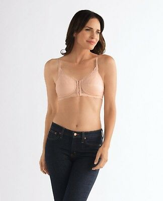 Amoena Ellen Non Underwire Front and Rear Opening Mastectomy Bra Black 44245