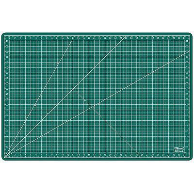 "24"" x 36"" GREEN/BLACK Self Healing 5-Ply Double Sided Durable PVC Cutting Mat"