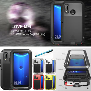 check out 34fa5 635fa Details about Waterproof LOVE MEI Aluminum Glass Hard Case Cover For Huawei  P20 Lite Nova 3e