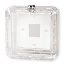 Grainger Universal Clear Plastic Locking Thermostat Guard 4E644 cover box base