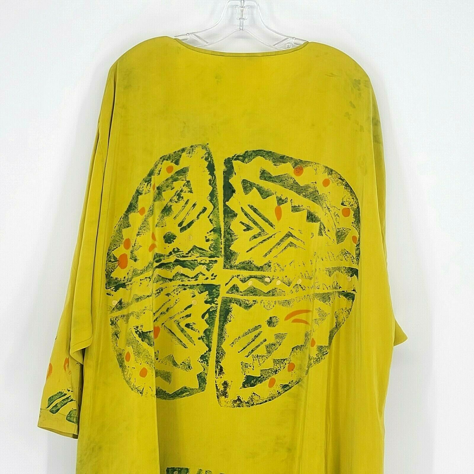 Laise Adzer Womens Vintage 1980's Hand Painted Si… - image 9