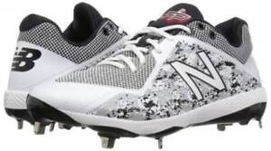 951421273664 Image is loading New-Balance-4040v4-Metal-Low-Baseball-Cleats-White-