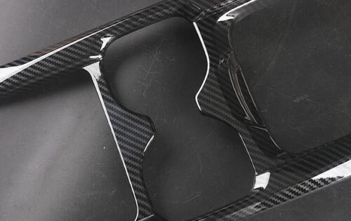 For Honda CR-V CRV 2017 2018  Water Cup Holder Cover Trim Carbon Fiber Style