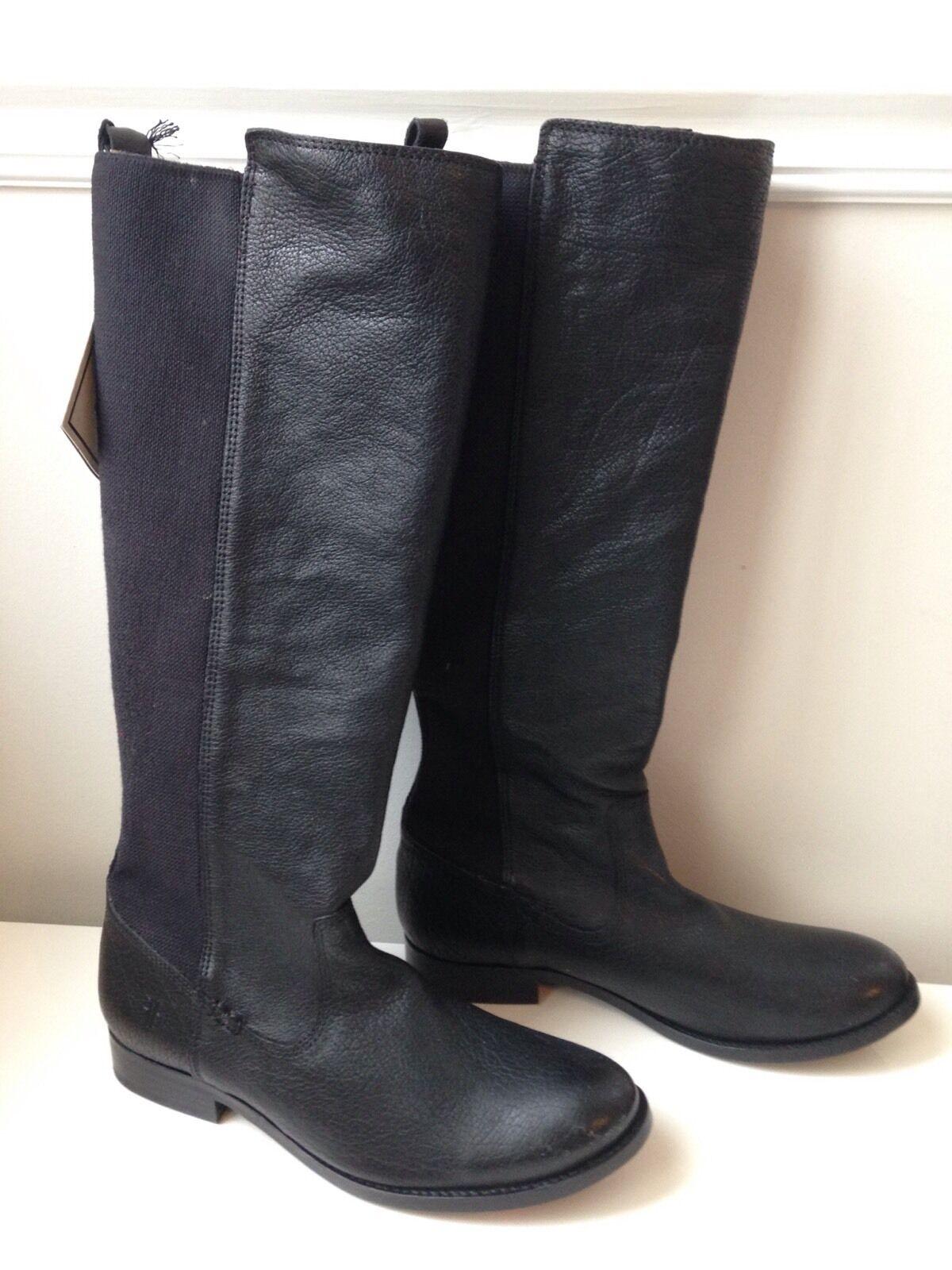 Frye tirar-en tirar-en tirar-en Cuero Rodilla Alta botas De Montar Talla 7.5 M-Nuevo  tienda de venta