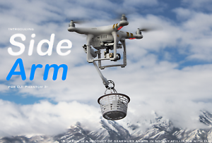 SideArm-Robotic-Arm-for-DJI-Phantom-3-Drone-Pickup-and-deliver-items-with-drone