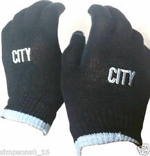 Manchester City Gloves Football Stretchable Gloves
