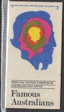 AUSTRALIA SGSB48 1970 $1.20 FAMOUS AUSTRALIANS BOOKLET MNH
