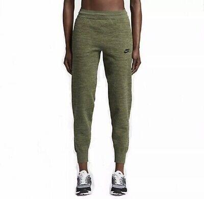 New Nike Women's Sportswear Tech Knit Pants Palm Green 831677 387 Size Large L | eBay